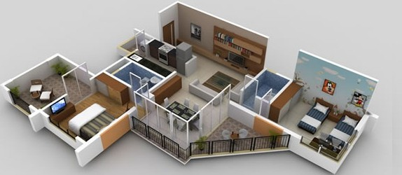 Mumbai Pune - Home Renovation - Deluxe way 2bhk 1bhk