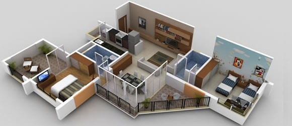 Renovation of 1bhk flat contractorbhai for 1 bhk flat interior decoration image