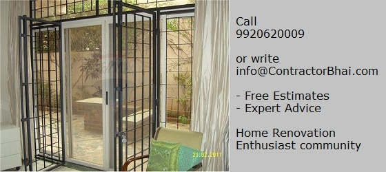 French Window Home Renovation India Mumbai Pune