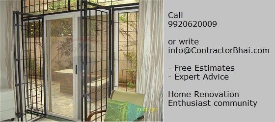 French Window Home Renovation India Mumbai Pune