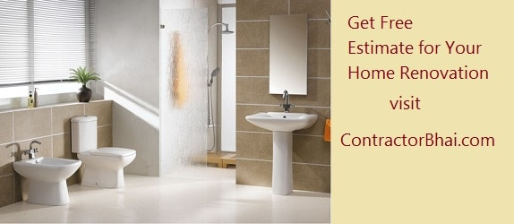 Cost Of Bathroom Remodeling In India ContractorBhai - 7 x6 bathroom design