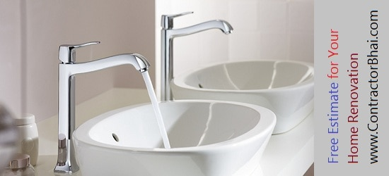 wash basin Home Renovation Mumbai Bangalore