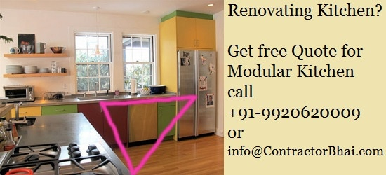 Indian Kitchen Renovation - Work Triangle