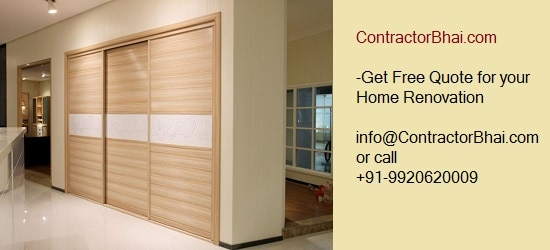 Plywood Wardrobe Rates Bangalore ContractorBhai