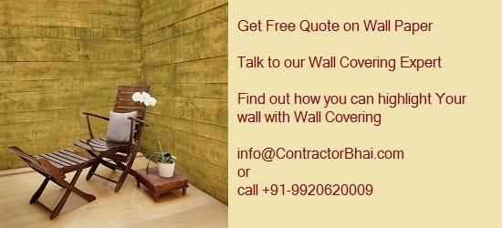 Wallpaper wall covering cost Mumbai ContractorBhai