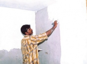 Wall Putty Application