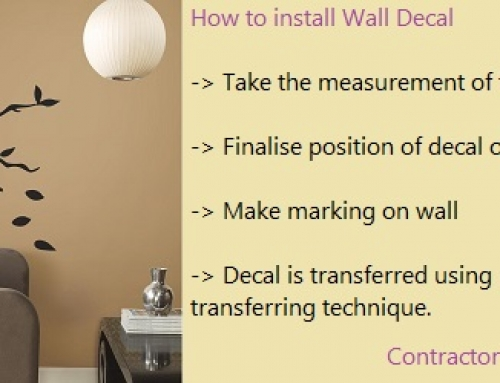 How to install Wall Decal in your Home