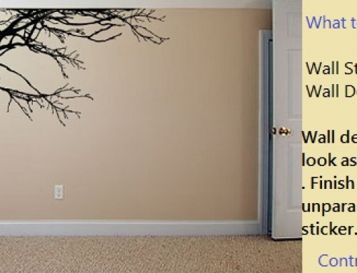 What is the difference between Wall Sticker and Wall Decal