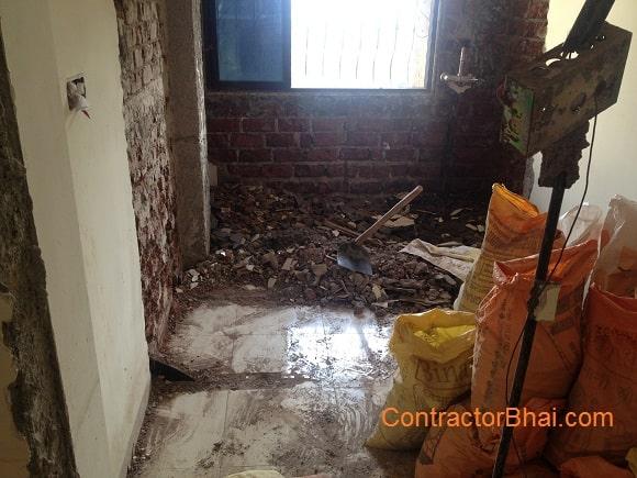 Cost of Breaking wall plaster wall kitchen platform