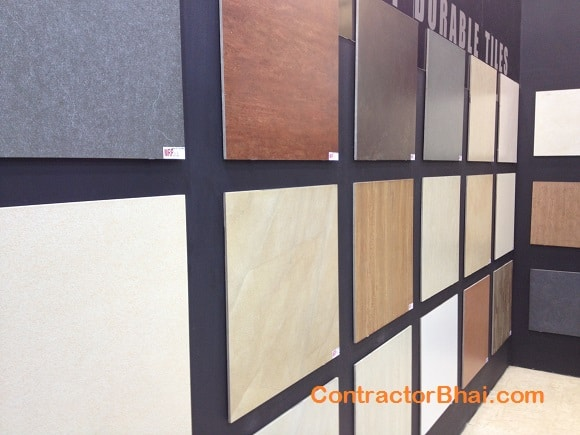 Building material - Vitrified Tiles cost and rates