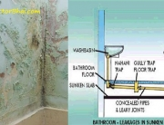 Bathroom Ceiling Water leakage plumbing contractorbhai