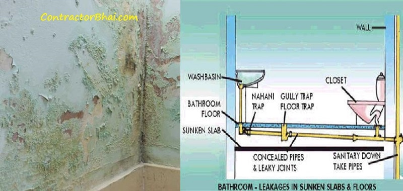 Bathroom Leakage from upper floor - ContractorBhai
