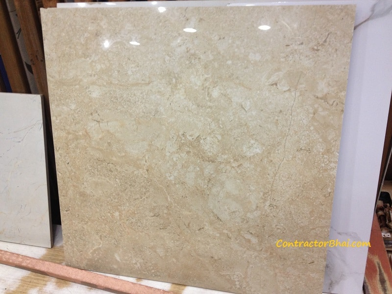 crema marfil 600x600 Glazed Vitrified Tiles ContractorBhai