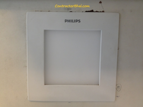Philips Flat Panel Square Light ContractorBhai