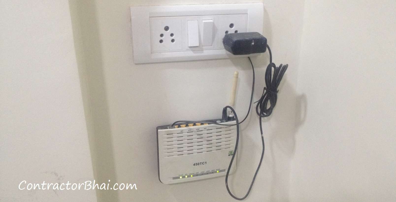Data Cable Connection Wiring inside Home - ContractorBhai