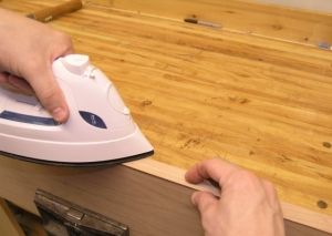 Ironing the Iron-on Veneer  Edge Banding