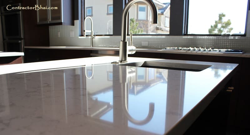 Corian Countertops Vs Granite Countertop For Kitchen Platform Contractorbhai