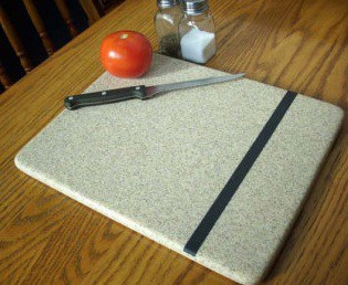 kitchen cutting board in solid surface material