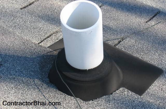 Bathroom drainpipe waterproofing