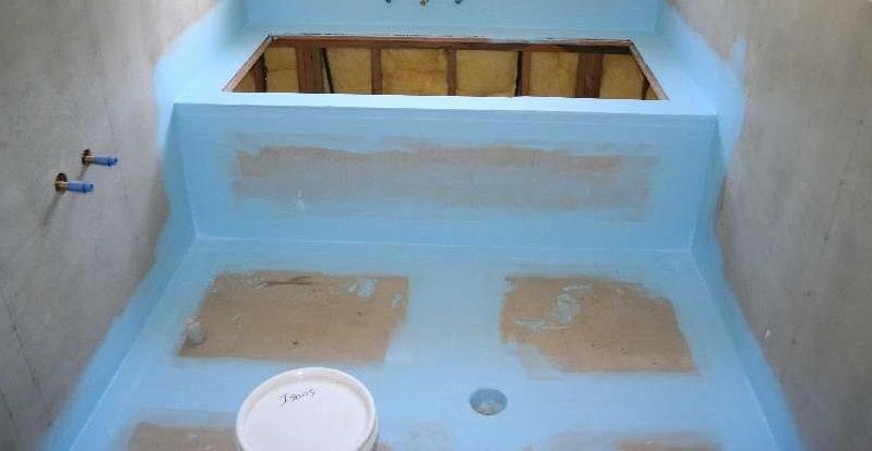 Water Proofing in Sunken area of Bathroom