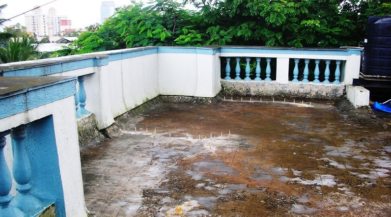 terrace precaution waterproofing
