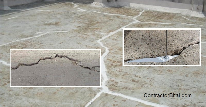 waterproofing terrace cracks treatment