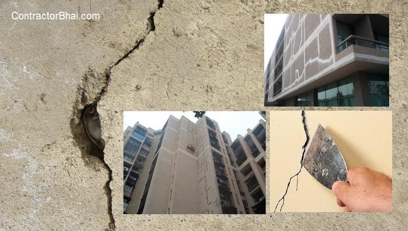 External Wall Crack buildings