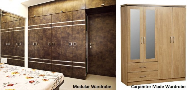 Modular vs Carpenter Made Wardrobe