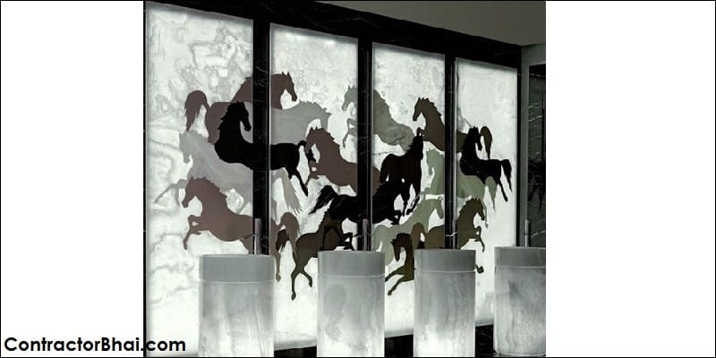 Backlit ONYX stone panels