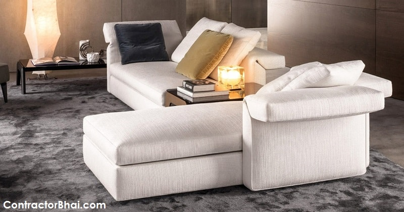 Collar sofa by Minotti