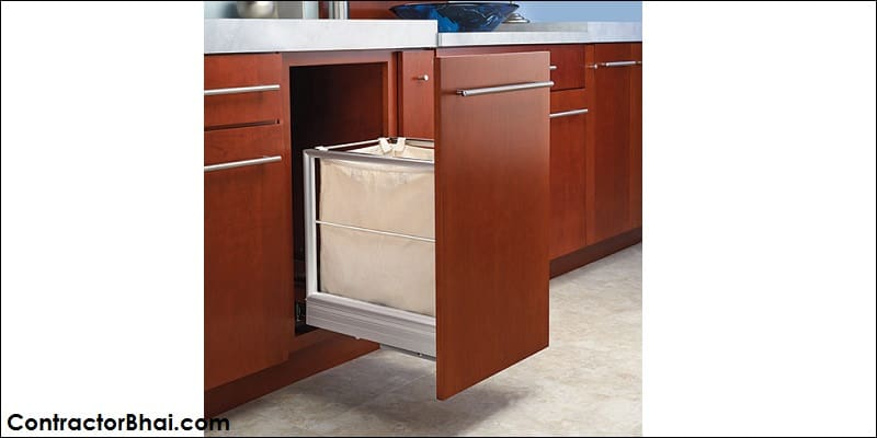Designer Laundry basket inside cabinet