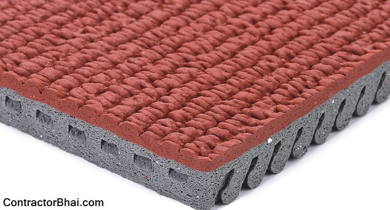 Pre-Fabricated Rubber Surface for Sports