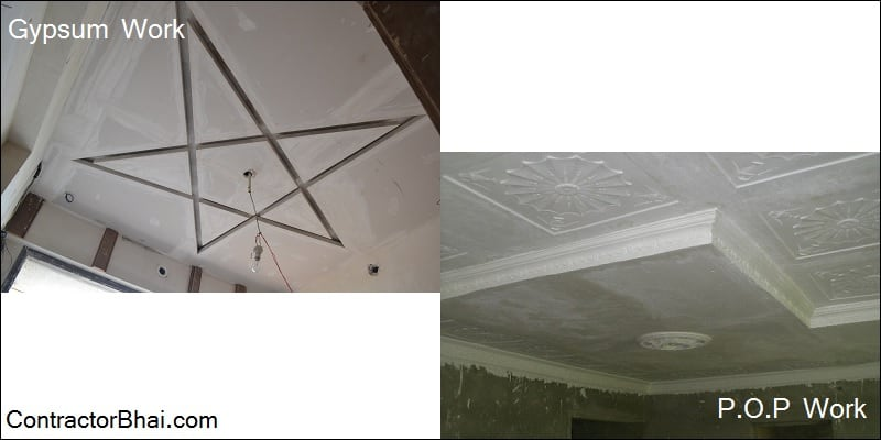 Pop False Ceiling Or Gypsum False Ceiling Contractorbhai