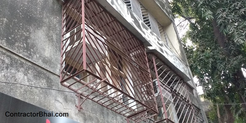 Process to making of window grills contractorbhai for Balcony safety grill designs