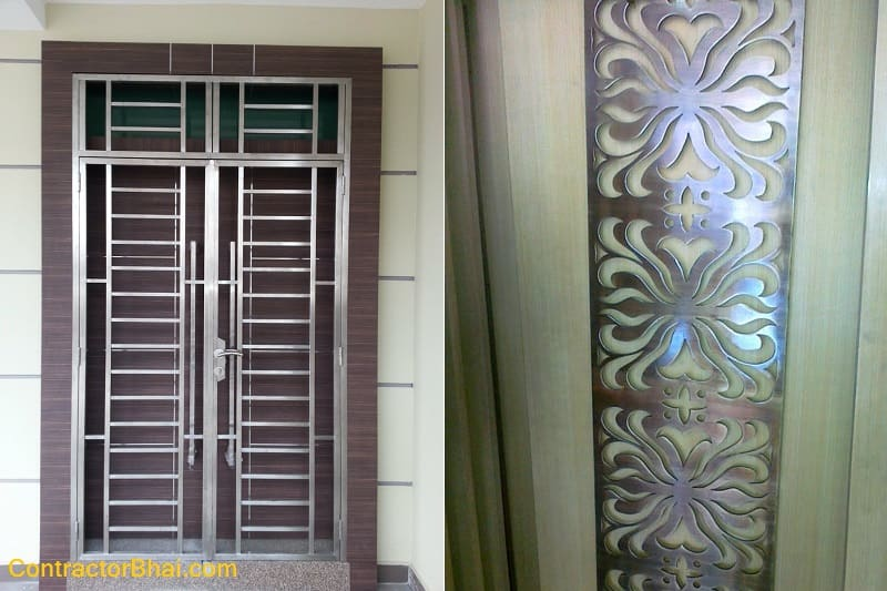 Mild Steel Safety Grills For Doors Contractorbhai