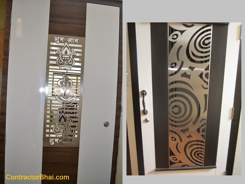 Ss Laser Cut Plates For Doors Contractorbhai