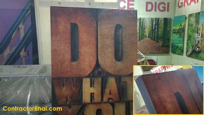 Giving Wood finish to Aluminum sections through Digital Printing