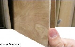 How is plywood selected for Indian Homes