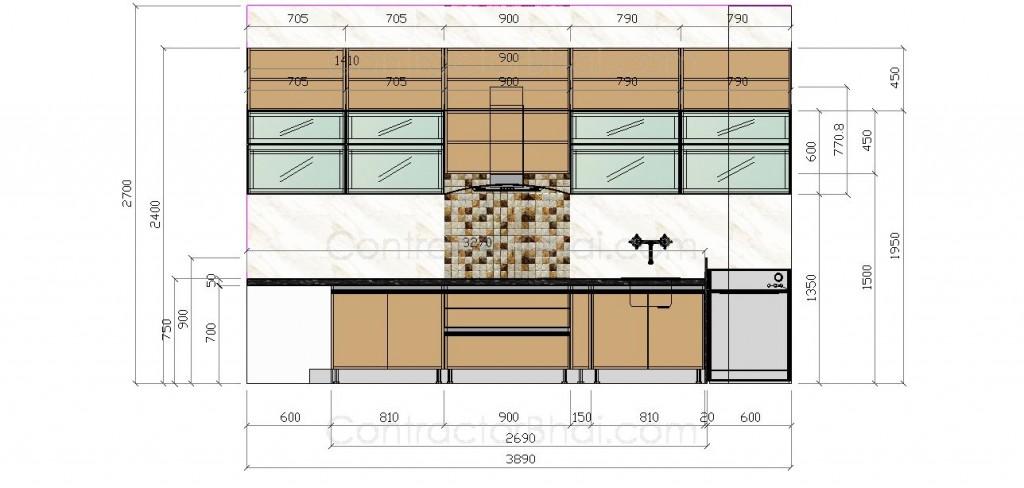 2D Kitchen Plan thane