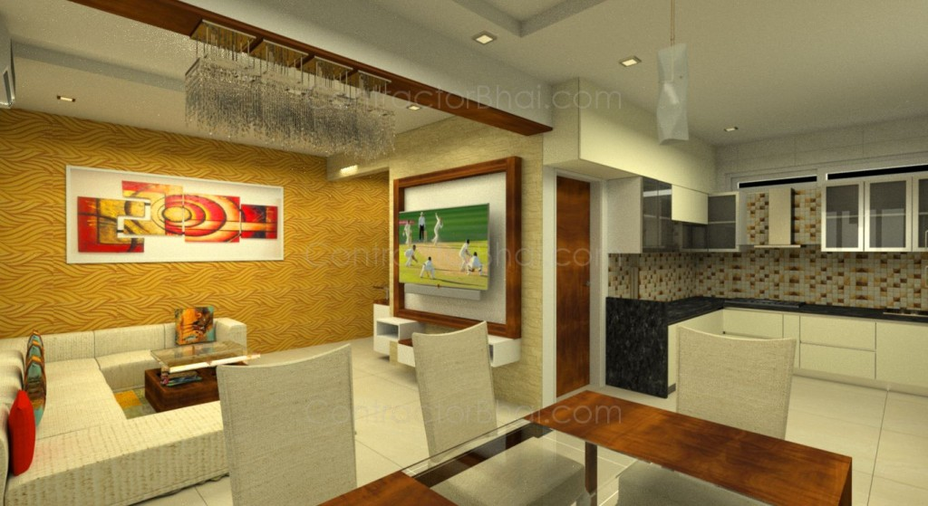 interior designing for 3bhk in bhayli vadodra contractorbhai