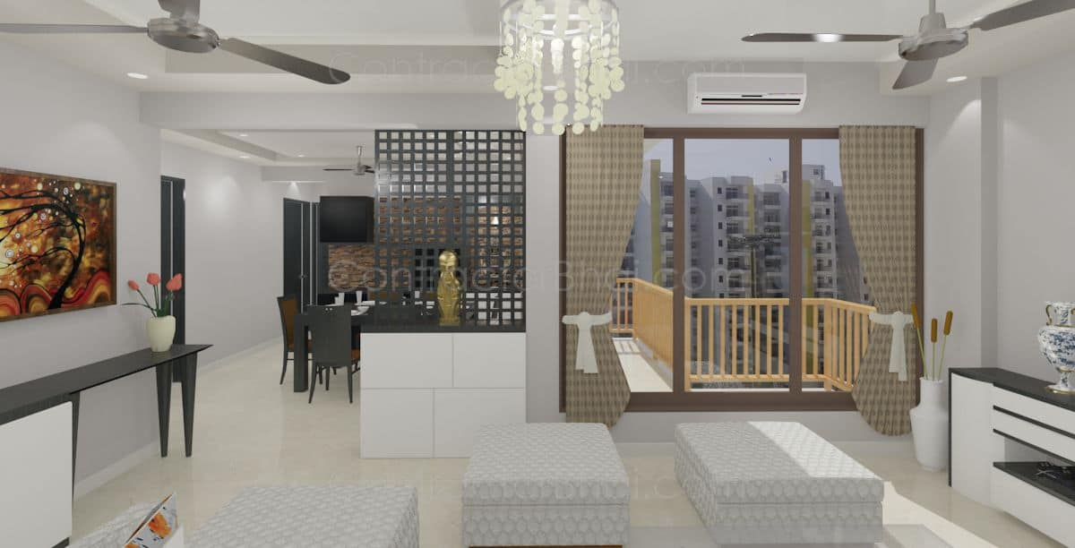 Interior Design For 3bhk Home In Sector 137 Noida Contractorbhai