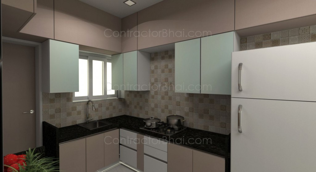 1 Bhk Flat Interior Decoration Image Of 2 Bhk Flat In Hinjewadi Contractorbhai