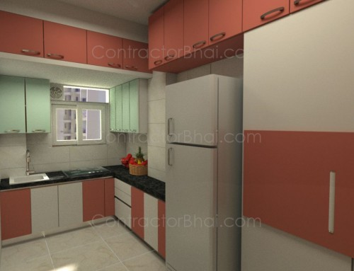 2bhk interior designing in borivali mumbai contractorbhai for 1 bhk flat interior decoration