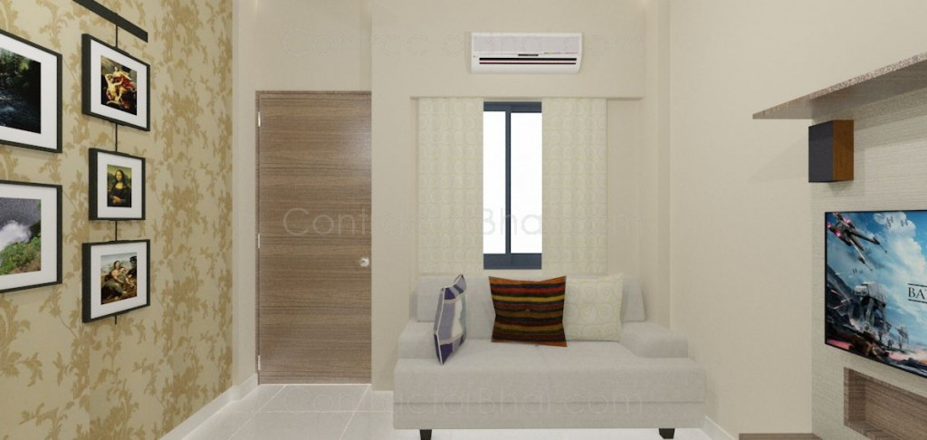 1rk Interior Designing At Bhayander Contractorbhai