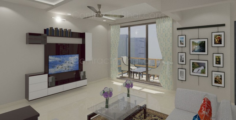 Interior designing for 2bhk at bhiwandi mumbai for 1 bhk flat interior decoration image
