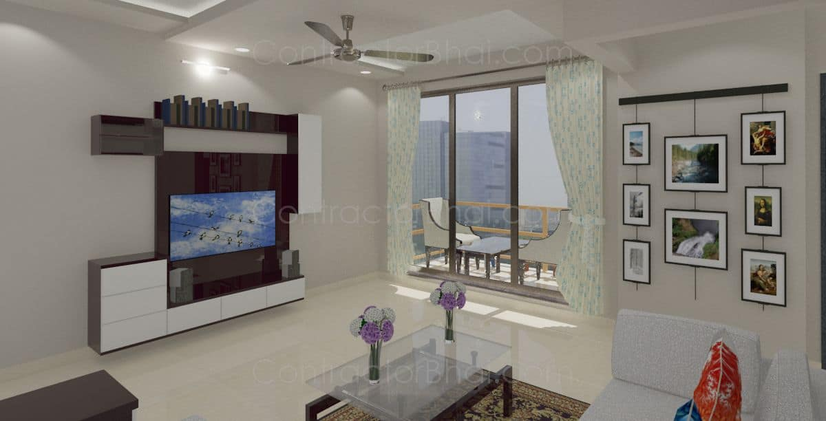 Interior designing for 2bhk at bhiwandi mumbai for 1 bhk flat interior decoration