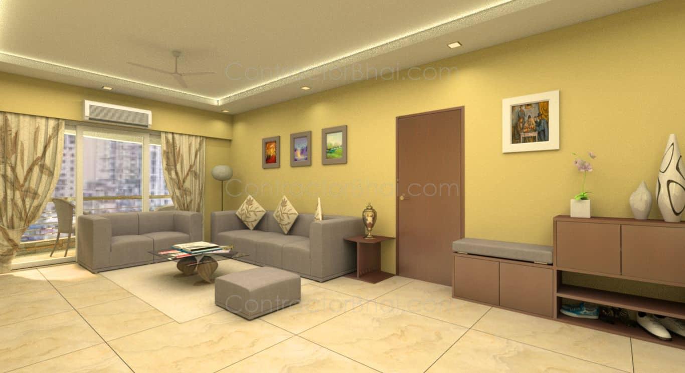 4 Bhk Interior Designing At Kharadi Pune Contractorbhai
