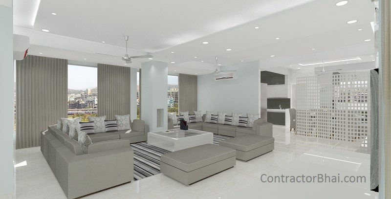 Home interior design 3bhk ghaziabad