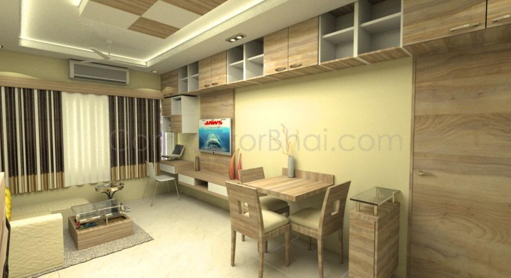 1bhk Interior Designing In Santacruzmumbai Contractorbhai
