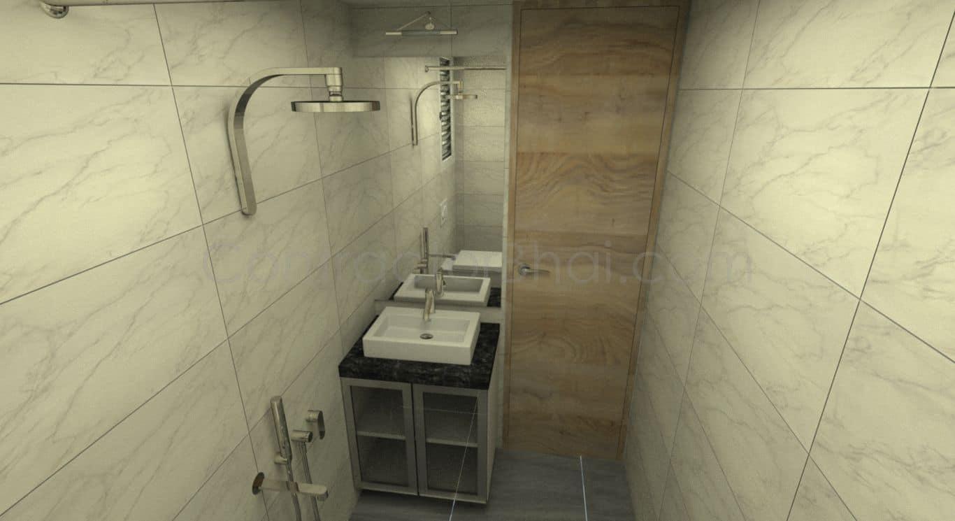 1bhk interior designing in santacruz mumbai contractorbhai for Bathroom designs mumbai